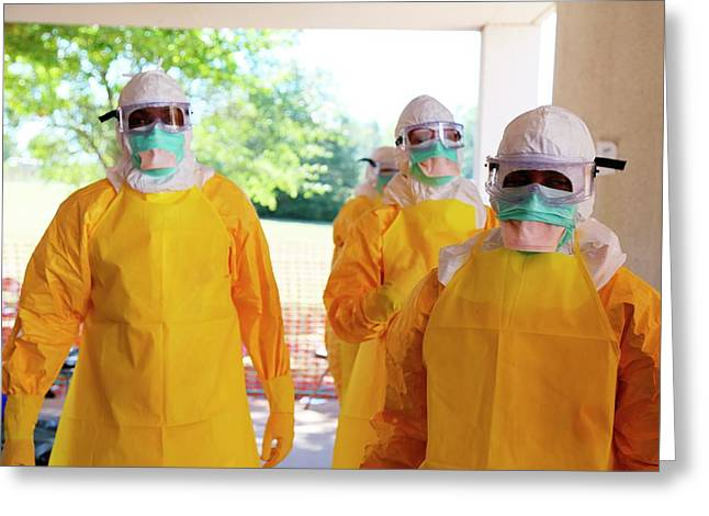Ebola Prevention Training Greeting Card by Cdc/nahid Bhadelia, M.d.