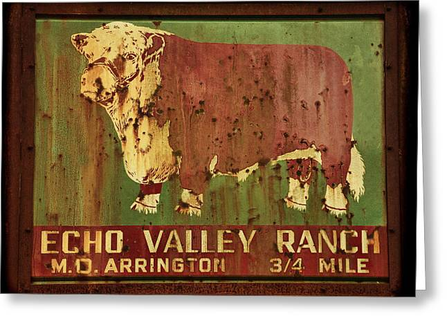 Echo Valley Ranch Greeting Card