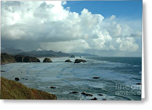 Ecola State Park Greeting Card by Nick  Boren