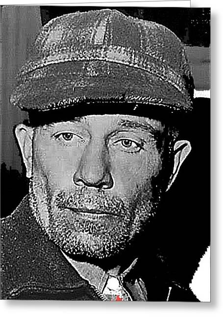 Ed Gein The Ghoul Who Inspired Psycho Plainfield Wisconsin C.1957-2013 Greeting Card by David Lee Guss