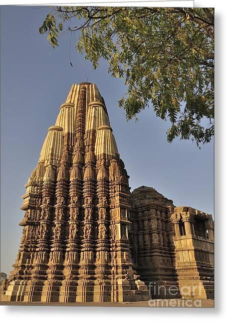 Eestern Temples Of Khajuraho Madya Pradesh India Greeting Card