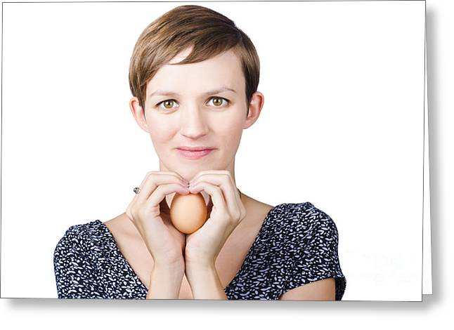 Eggs And Heart Health Greeting Card by Jorgo Photography - Wall Art Gallery
