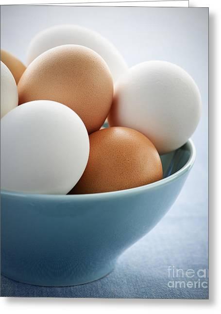 Eggs In Bowl Greeting Card by Elena Elisseeva