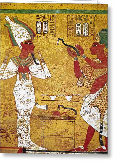 Egypt Tomb Painting Greeting Card by Granger