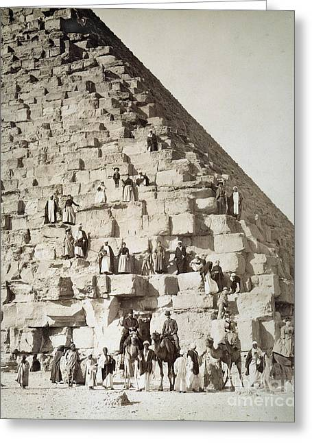 Egypt: Tourists Greeting Card by Granger
