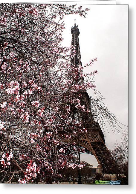 Eiffel Tower 18 Greeting Card by Everett Spruill