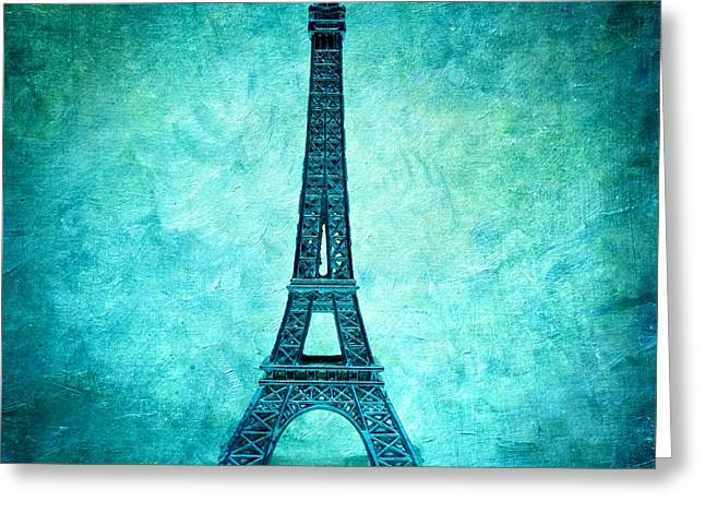 Eiffel Tower Greeting Card by Bernard Jaubert