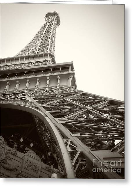Eiffel Tower Greeting Card by Edward Fielding