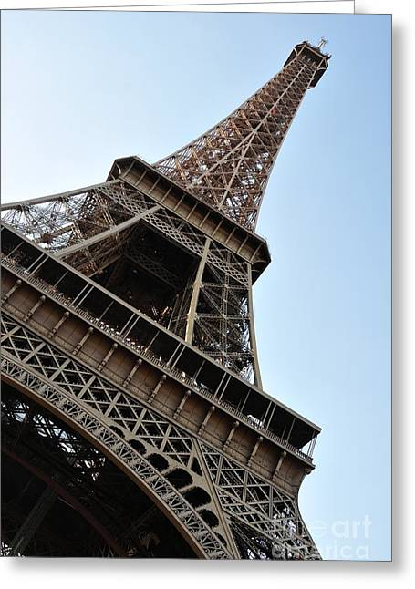 Greeting Card featuring the photograph Eiffel Tower by Joe  Ng