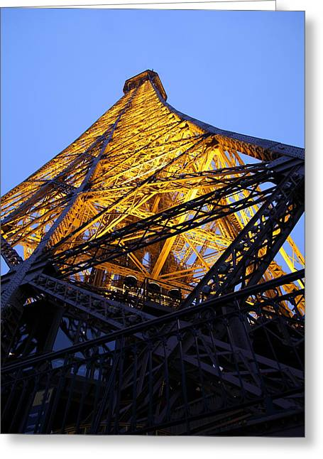 Eiffel Tower - Paris France - 01134 Greeting Card by DC Photographer