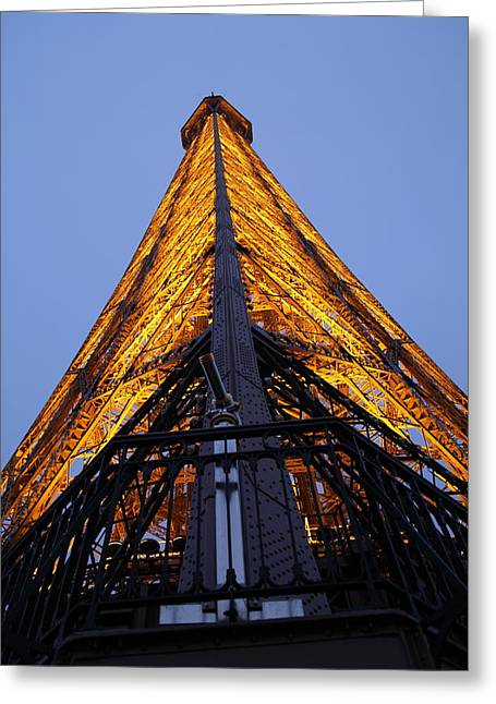 Eiffel Tower - Paris France - 01135 Greeting Card by DC Photographer