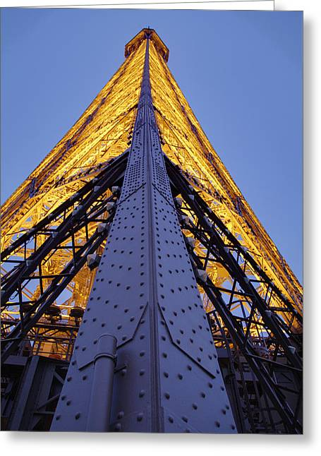 Eiffel Tower - Paris France - 01136 Greeting Card by DC Photographer