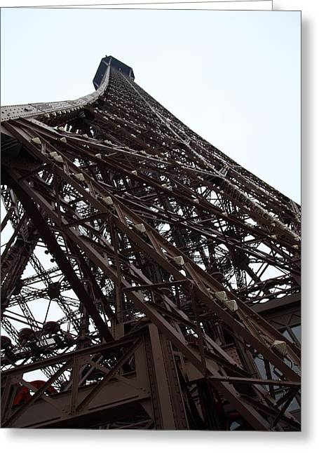 Eiffel Tower - Paris France - 01137 Greeting Card by DC Photographer