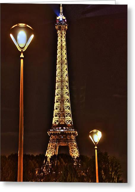Eiffel Tower Greeting Card by Steve Ellenburg