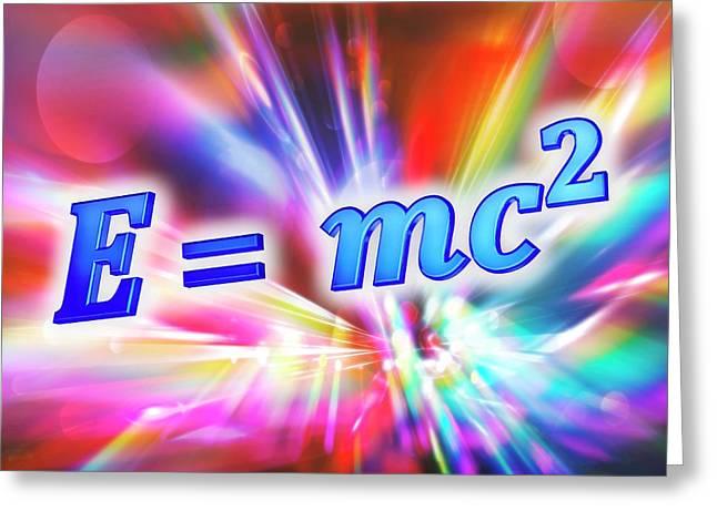 Einstein's Mass-energy Equation Greeting Card