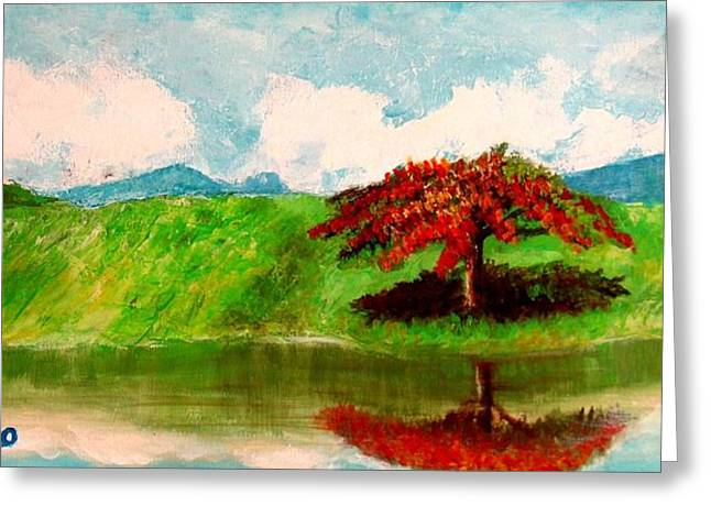 El Lago Greeting Card by Edgar Torres