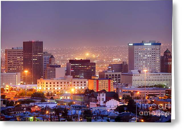 El Paso Greeting Card by Denis Tangney Jr