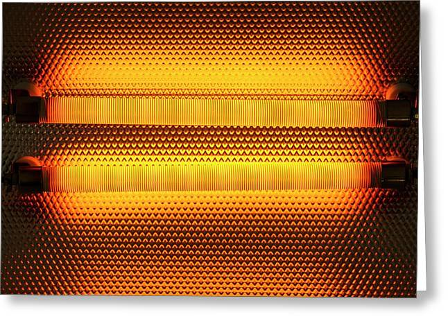 Electric Heater Greeting Card by Science Photo Library