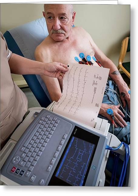 Electrocardiography Test Greeting Card