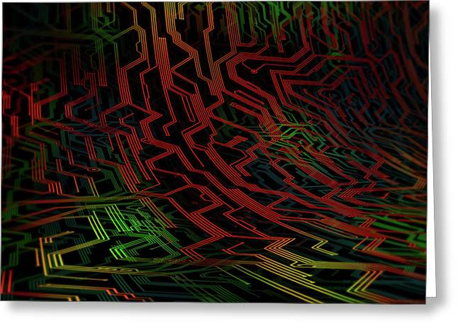Electronic Circuit Greeting Card by Ktsdesign