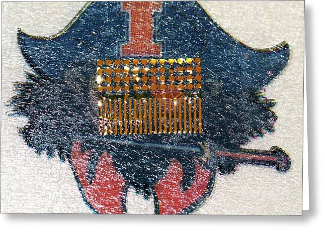 Electronic Circuit Temporary Tattoo Greeting Card by Professor John Rogers, University Of Illinois