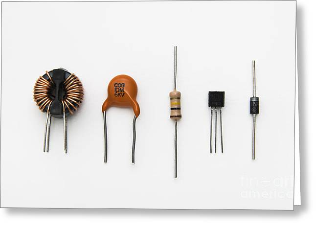 Electronic Components Greeting Card by GIPhotoStock