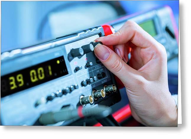 Electronic Control Panel Greeting Card by Wladimir Bulgar