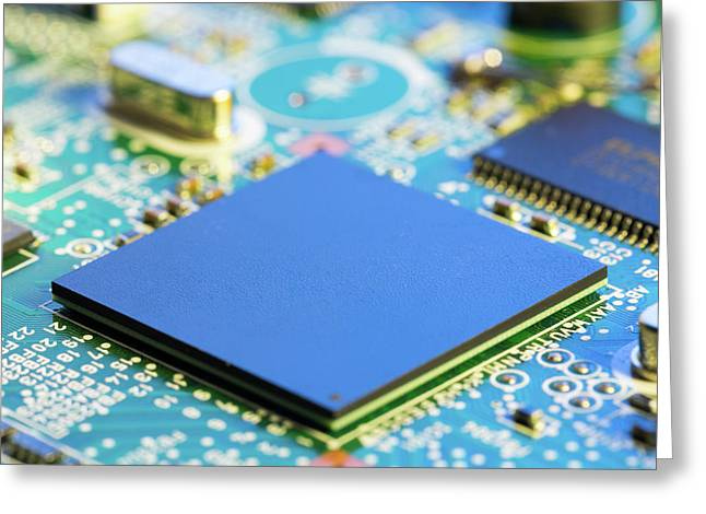 Electronic Printed Circuit Board Greeting Card by Wladimir Bulgar
