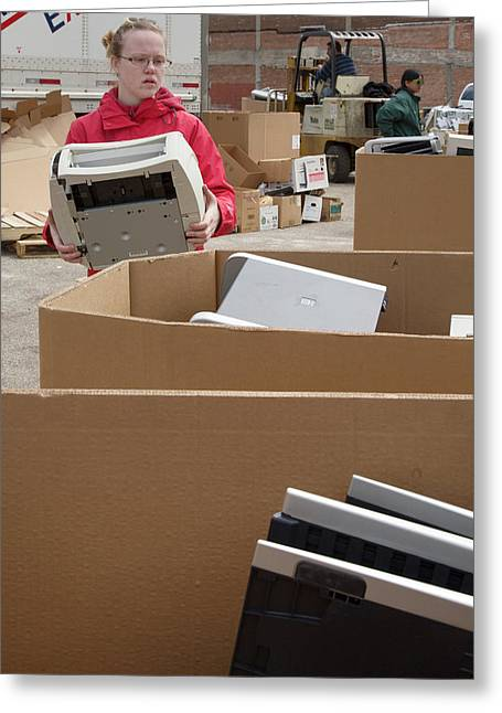 Electronic Waste Collection Greeting Card