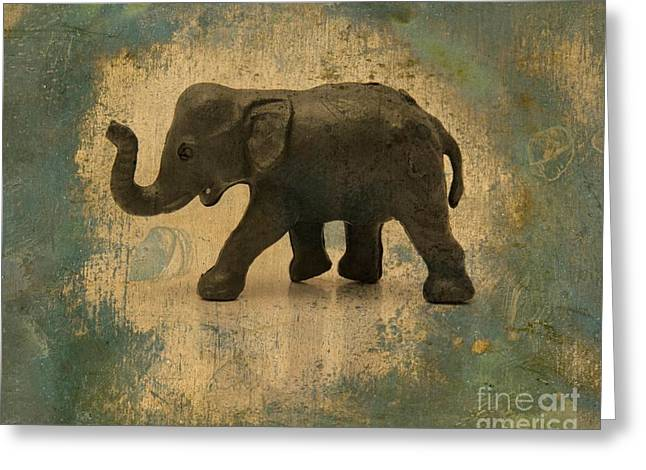 Elephant Figurine Greeting Card by Bernard Jaubert
