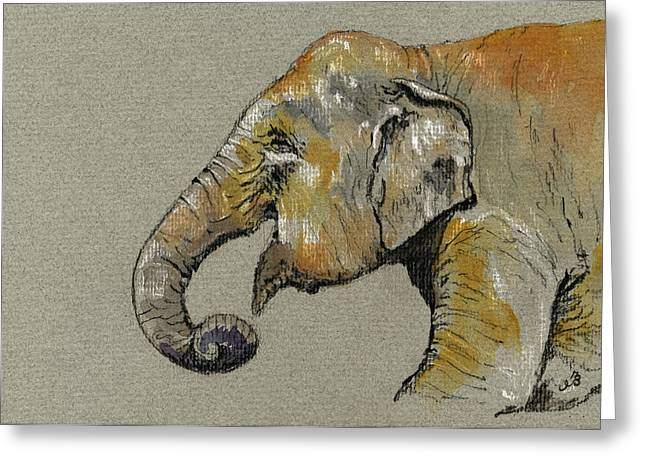 Elephant Indian Greeting Card