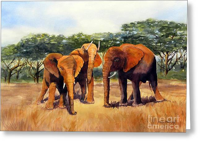 Elephants Greeting Card
