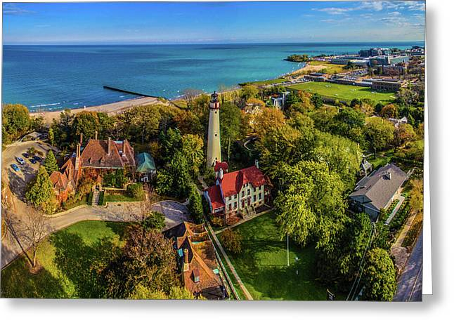 Elevated View Of Grosse Point Greeting Card