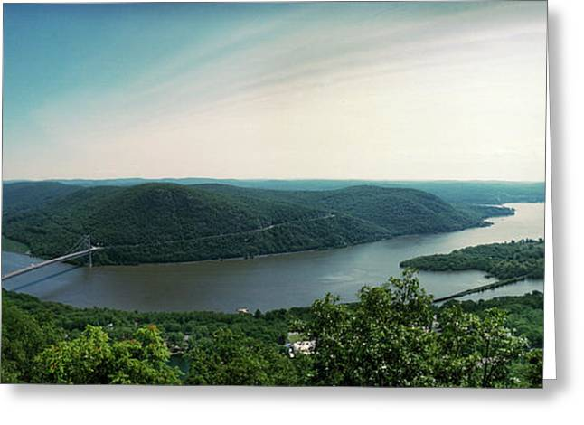 Elevated View Of The Hudson River Greeting Card by Panoramic Images