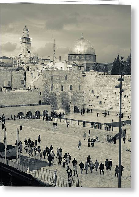Elevated View Of The Western Wall Greeting Card