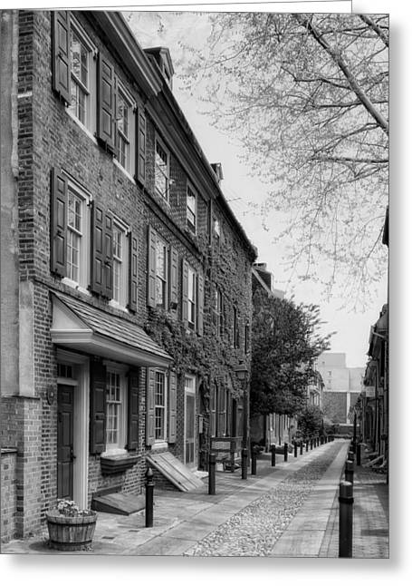 Elfreth's Alley Philadelphia Greeting Card by Mountain Dreams