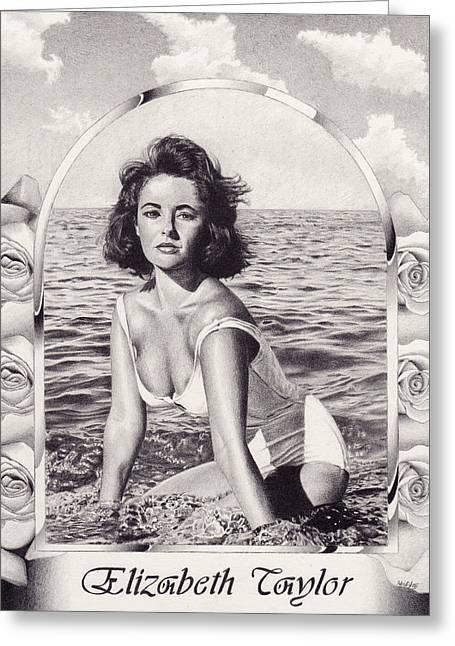 Elizabeth Taylor Greeting Card by Herb Jordan