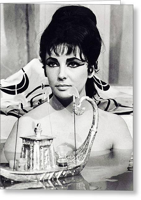 Elizabeth Taylor In Cleopatra  Greeting Card