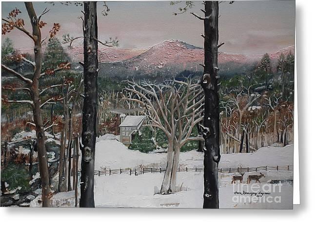 Ellijay - Pink Knob Mountain - Signed Greeting Card
