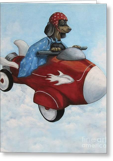 Elvis Flies For K9 Air Greeting Card