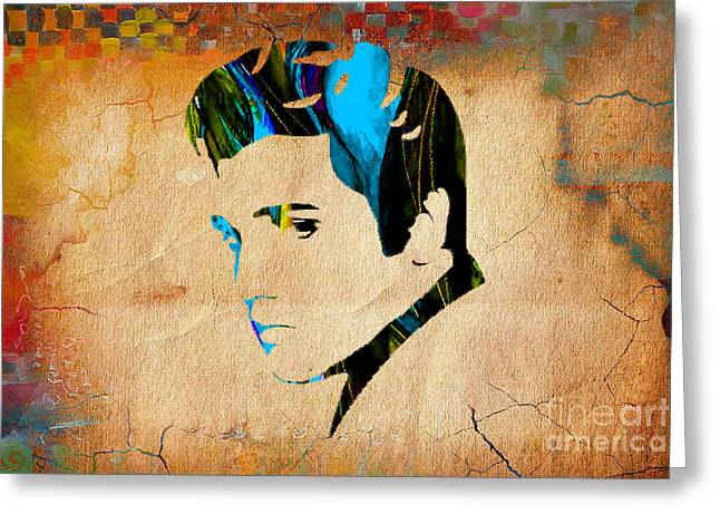 Elvis Presly Wall Art Greeting Card by Marvin Blaine
