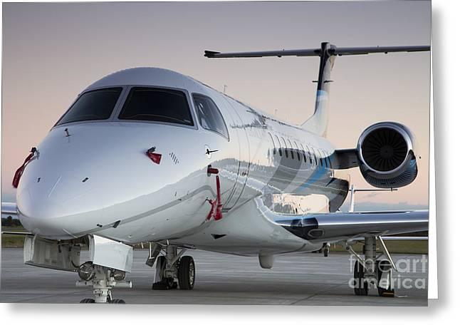Embraer Legacy 650 Executive Jet Greeting Card