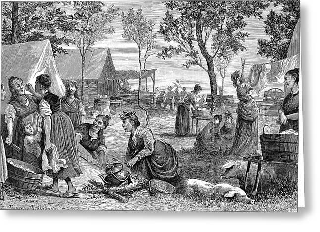 Emigrants Arkansas, 1874 Greeting Card by Granger