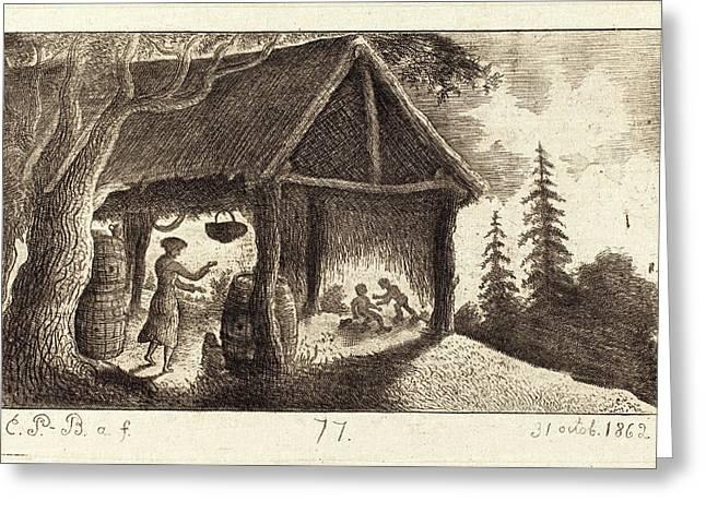 Emmanuel Phélippes-beaulieu, French Born 1829 Greeting Card
