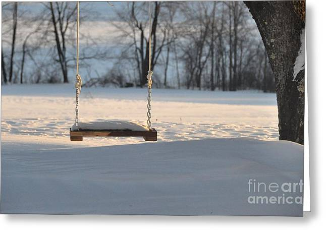 Greeting Card featuring the photograph Empty Swing by John Black