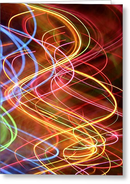 Energy Lines Greeting Card by Les Cunliffe