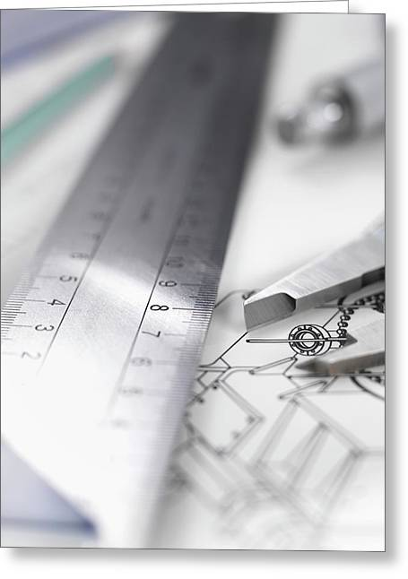 Engineering Design Greeting Card by Tek Image