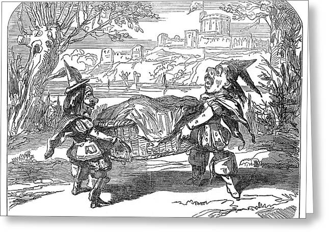 England Pantomime, 1850 Greeting Card