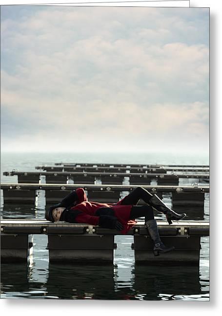 Enjoying Winter Greeting Card by Joana Kruse