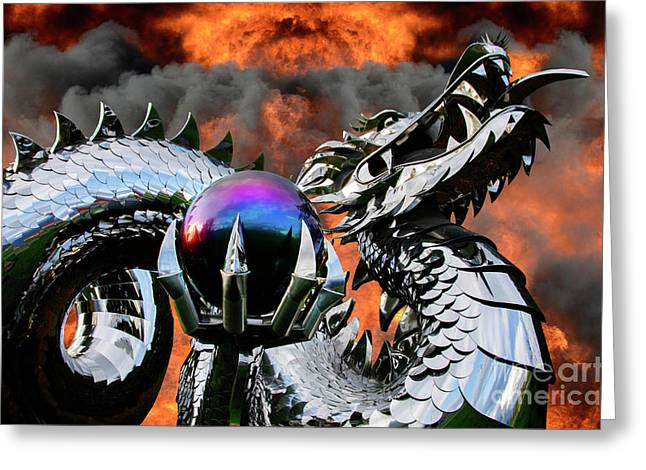 Enter The Dragon Greeting Card by Bob Christopher